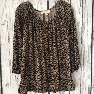 Michael Kors animal print top size XL